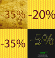 20 35 5 icon Set of percent discount on abstract vector image