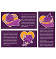 violet vanolla banners collection vector image