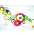 Abstract colorful toothed wheels background for vector image