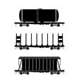 Hopper car open wagon tank car vector image vector image