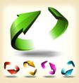 abstract circular arrows set vector image