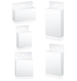 blank retail cartons vector image