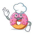 chef donut character cartoon style vector image