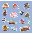 Chinese house stickers vector image