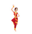 Ethnic dance of cartoon indian girl vector image