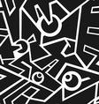 futuristic monochrome seamless pattern vector image