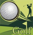 Golf poster competition golf image vector image
