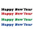 set phrase happy new year vector image