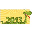 Snake Cartoon Character Showing Numbers 2013 vector image
