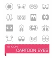 Cartoon eyes icon set vector image
