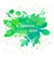 floral summer background with leaves and flowers vector image