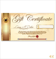 Luxury gift certificate template vector image