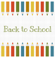 back to school background with color pencils vector image vector image