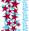 Stars seamless pattern vertical composition vector image vector image