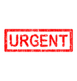 office stamp urgent vector image vector image