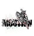 mountain bike poster background vector image