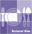 White and blue restaurant menu vector image