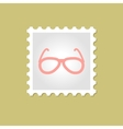 Sunglasses stamp vector image