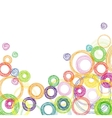Abstract square background with colored circles vector image