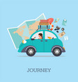 planning summer vacations vector image