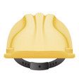 Yellow safety helmet isolated on a white vector image