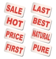 Sticker Sale vector image