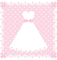 lace dress and pearls vector image vector image