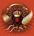 wing crown vector image vector image