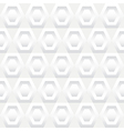 Shades of White Hexagons Seamless Background Tile vector image vector image