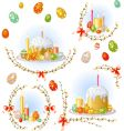 Easter equipment set vector image vector image