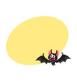 flying crazy vampire bat traditional halloween vector image vector image