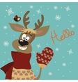Reindeer says hello vector image