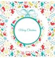 Christmas ball background abstract vector image