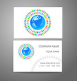 team company logo business card template vector image vector image
