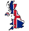 Map in colors of UK vector image vector image