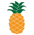 Flat pineapple icon isolated on white background vector image