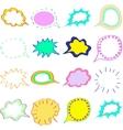 Blank empty colorful speech bubbles clouds set vector image