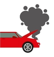 Car accident isolated icon design vector image