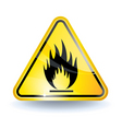 flammable sign vector image