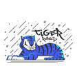 flat designed tiger vector image