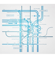 infographics subway transportation plan vector image