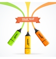 Marker highlighter concept vector image
