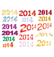 new year signs vector image