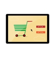 Online shopping banner vector image