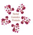 Organic cosmetics product logo Natural vector image