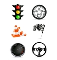 Road icons set vector image