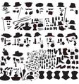 set of silhouettes accessories Art Nouveau vector image