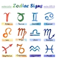 Signs of the Zodiac watercolor vector image