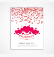 valentine s day abstract background with paper vector image