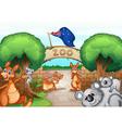 Zoo scene vector image